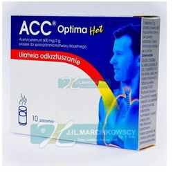 ACC optima HOT gran.do p.roztw.doust. 0,6 g/3g 10 sasz.a 3g
