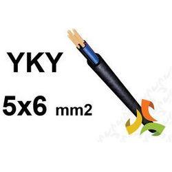 KABEL YKY 5x6mm2 0,6/1kV PRZEWÓD ZIEMNY MIEDZIANY