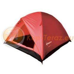 Namiot turystyczny 3 osobowy lekki z tropikiem King Camp FAMILY 2 plus 1 czerwony