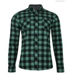 Zielona koszula flanelowa w kratę Alaska