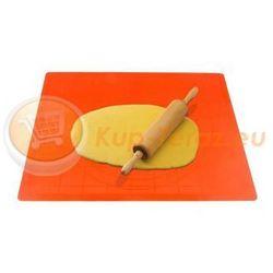 Stolnica silikonowa 50x40 cm z podziałką pomarańczowa