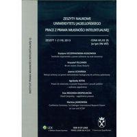 Zeszyty naukowe Uniwersytetu Jagiellońskiego prace z prawa własności intelektualnej zeszt 1 (103) 2009 (opr. miękka)