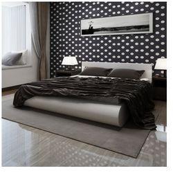 Łóżko białe ze skóry syntetycznej z materacem 140 x 200 cm Zapisz się do naszego Newslettera i odbierz voucher 20 PLN na zakupy w VidaXL!