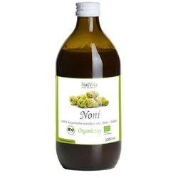 Organiczny 100% sok z Noni z maliną 500ml - NatVita