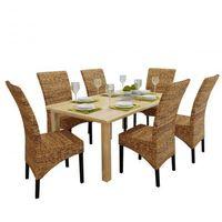 6 rattanowe krzeseł brązowych Abaca Zapisz się do naszego Newslettera i odbierz voucher 20 PLN na zakupy w VidaXL!