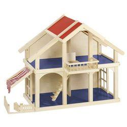 Goki, Dwupiętrowy domek dla lalek z werandą i balkonem Darmowa dostawa do sklepów SMYK