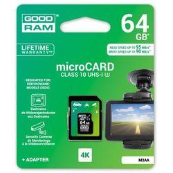 karta pamięci GOODRAM microSDXC 64GB M3AA class 10 UHS-I U3 MLC 90/95MB/s