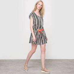 Sukienka RUMBA, nadruk w paski