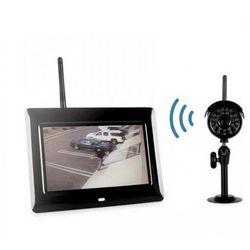 Kamera Zewnętrzna Bezprzewodowa Dzienno-Nocna + Nagrywający Odbiornik LCD 7'' do 300m.
