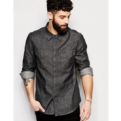 Lee Denim Shirt Slim Fit Western Clean Grey - Grey