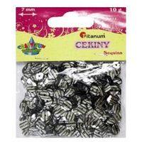 Konfetti cekiny zebra czarno srebrne (co7/M1)