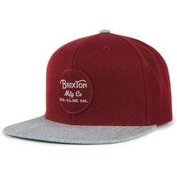 czapka z daszkiem BRIXTON - Wheeler Snapback Burgundy Burgundy Heather Grey  (BUBGY) 4871ec1c04d1