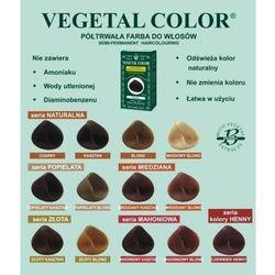 Herbatint półtrwała farba do włosów Vegetal Color seria Miedziana 7R miedziany blond