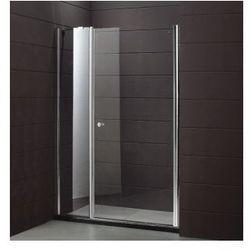 MULTISPACE Drzwi prysznicowe 120x190, profile chrom, szkło transparentne + powłoka EasyClean