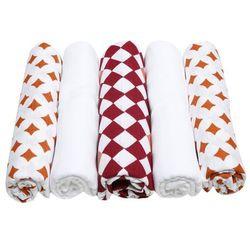 Motherhood, Pop Kolor różowo-pomarańczowy, pieluszki tetrowe, 70x80 cm, 5 szt. Darmowa dostawa do sklepów SMYK