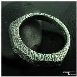Ręcznie kute obrączki z stali damasteel– Papilar (Ręcznie kute)