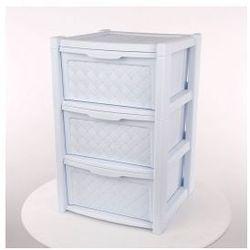 Regał szafka komoda 3 szuflady Arianna niebieski