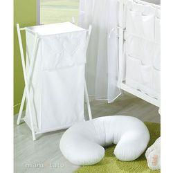 MAMO-TATO Kosz na bieliznę Serduszka w Bieli