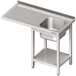 Stół ze zlewem jednokomorowym i miejscem na urządzenie STALGAST 1500x600x900 prawy