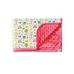 Koc bawełniany dwustronny bąbelki 75x100 BabyOno (różowy)