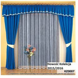 Komplet zasłon dekoracyjnych z lambrekinem KZ007
