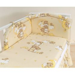 MAMO-TATO pościel 3-el Drabinki z misiami na kremowym tle do łóżeczka 60x120cm