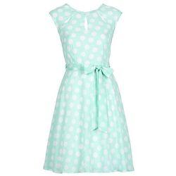 Sukienka w groszki bonprix miętowo-biały w groszki