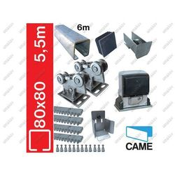 Zestaw do bram przesuwnych CAME 78x78mm, Zn