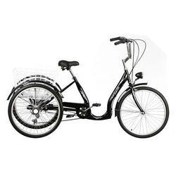 Rower trójkołowy DAWSTAR Sewilla Czarny + DARMOWY TRANSPORT!