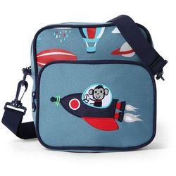 Penny Scallan Design, torba listonoszka, niebieska w małpki Darmowa dostawa do sklepów SMYK