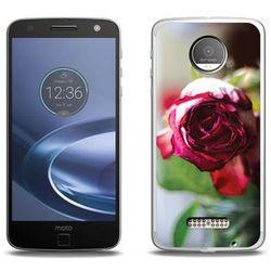 Foto Case - Lenovo Moto Z Force - etui na telefon Foto Case - pączek róży