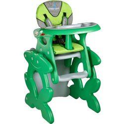 Krzesło do karmienia CARETERO ze stoliczkiem Primus zielony