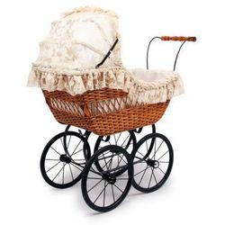 Wózek wiklinowy dla lalek Ala