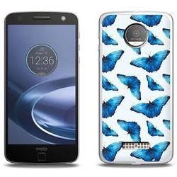 Fantastic Case - Lenovo Moto Z Force - etui na telefon Fantastic Case - niebieskie motyle