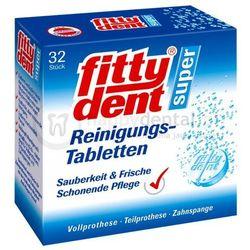 FITTYDENT Denture Tablets 32szt. - tabletki czyszczące do protez, ruchomych aparatów ortodontycznych i retencyjnych PROMOCJA !! NOWA NIŻSZA CENA :-)