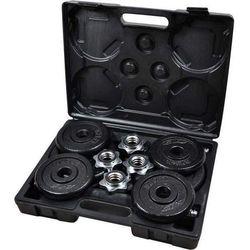 Zestaw hantli żeliwnych w walizce 2x 9,5 kg Energetic Body