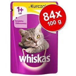 Megapakiet Whiskas 1+ saszetki, 84 x 100 g - Wybór dań rybno-drobiowych w galarecie