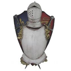Dekoracyjny Herb Rycerski: Zbroja + 2 Skrzyżowane Miecze.