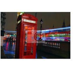 Plakat Iconic Budka telefoniczna London w nocy