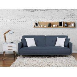 Sofa z funkcją spania ciemnoniebieska - kanapa rozkładana - wersalka - LUCAN