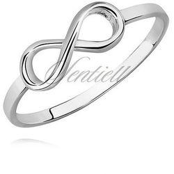 Tani srebrny pierścionek - nieskończoność
