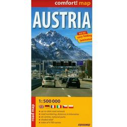 Austria Road Map 1:500 000 (opr. miękka)