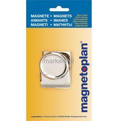 Klips magnetyczny metalowy 40mm 1szt blister