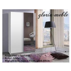 SZAFA FIFI z lustrem 211x135x60cm .Dostępne wybarwienia drewna: śliwa wallis, kasztan wenge, olcha, buk, biały