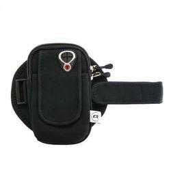 Qoltec Uniwersalne etui sportowe na ramię/nadgarstek do smartfona   czarne