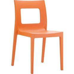 Rewelacyjne designerskie krzesło z tworzywa do ogrodu Lucca pomarańczowe