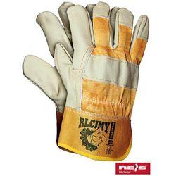 Rękawice robocze wzmacniane skórą licową RLCJMY rozmiar 10,5