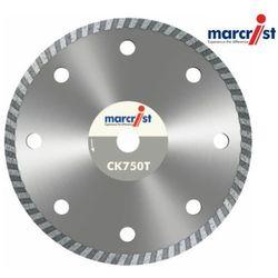 MARCRIST Tarcza diamentowa szybkotnąca do glazury, marmuru, granitu CK750T 200x25,4mm segm 7,5mm bez kołnierza (MC1831.1200.25)