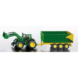 Zabawka SIKU Traktor John Deere z Przyczepą
