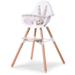 Krzesło do karmienia Evolu 2 - 2w1 drewno/biały